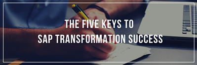 Five keys to sap transformation success Email banner